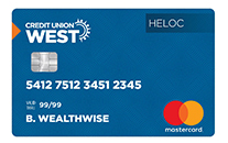 Credit Union West HELOC Card