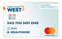 Credit Union West Platinum Preferred Mastercard Credit Card