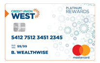 Credit Union West Platinum Rewards Mastercard Credit Card