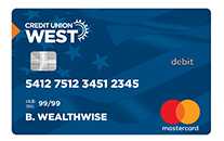 Credit Union West Mastercard Debit Card