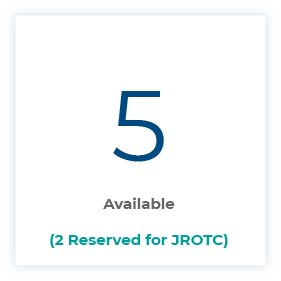 5 Available (2 Reserved for JROTC)